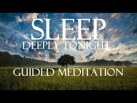 Guided meditation let go of tension, worry, stress to sleep better