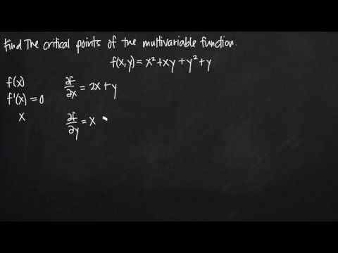 critical points of multivariable functions (KristaKingMath)