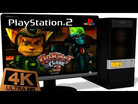PCSX2 1.5.0 PS2 Emulator - Ratchet & Clank: Up Your Arsenal (2004). Ingame 4K. Test #2
