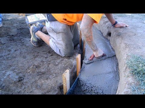 DIY Koi Pond Construction | Finishing & Pouring Concrete - Part 6