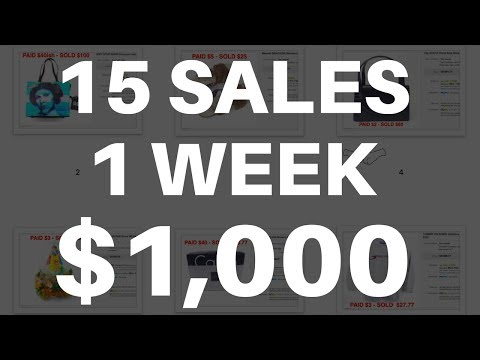 eBay SALES - 15 Items - $1,000 - How To Make Money Reselling - Thrift & Garage Sales | RALLI ROOTS
