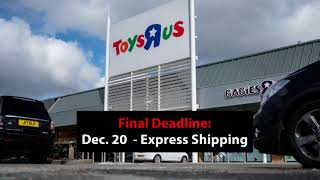 Shipping Deadlines for the 2017 Holiday Season