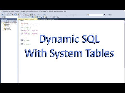 Dynamic Sql System Table Example Adventure Works