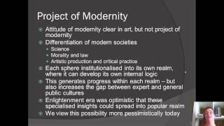 Week 2 Supplemental Jurgen Habermas Modernity an Unfinished Project