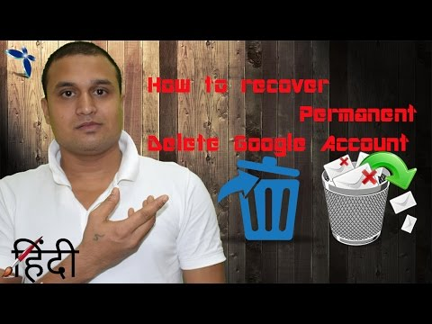 How to recover Permanent Delete Google Account Hindi/Urdu