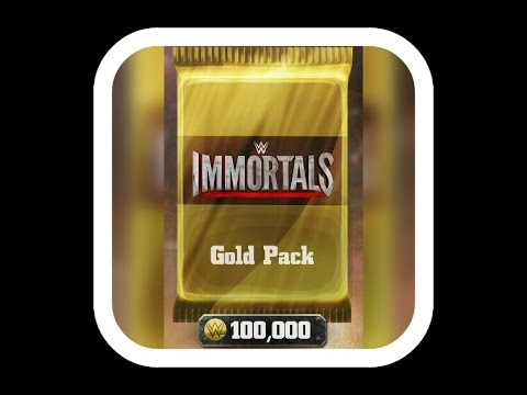 Wwe immortals - 30 gold pack openings!!!