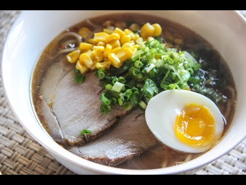 Miso Ramen Recipe - Japanese Cooking 101