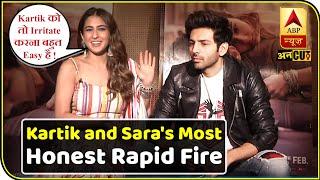 Kartik Aaryan & Sara Ali Khan's Most Honest Rapid Fire | Love Aaj Kal | Imtiaz Ali | ABP Uncut
