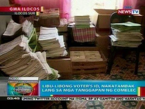 BP: Libu-libong voters' ID, nakatambak sa mga tanggapan ng COMELEC sa Ilocos Sur