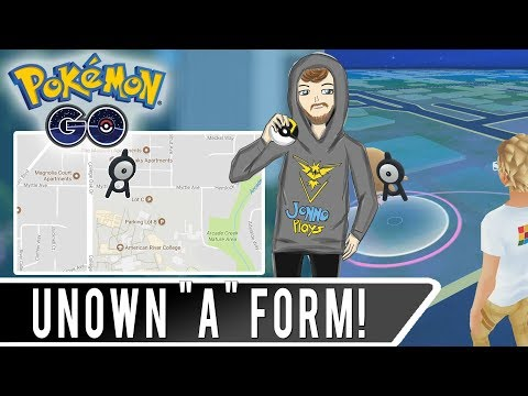 UNOWN SPAWNS NEAR SCHOOLS? Pokemon GO Unown Letter A at American River College