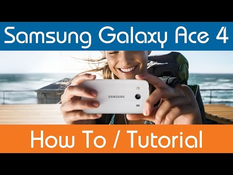 How To Insert & Remove SIM Card  - Samsung Galaxy Ace 4