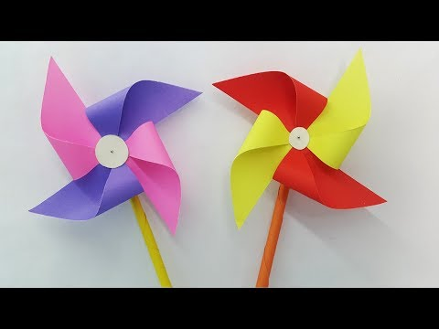 How to make a Paper Windmill for Kids - Best Windmill making Tutorial - Easy instruction (Pinwheel)