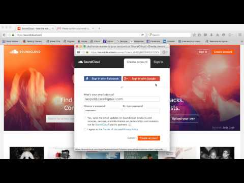 How to create a Soundcloud account