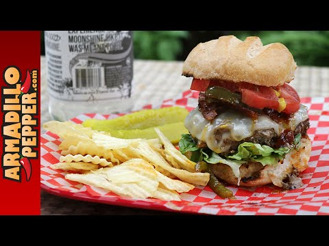 The Best Venison Burger Recipe with Moonshine Glaze