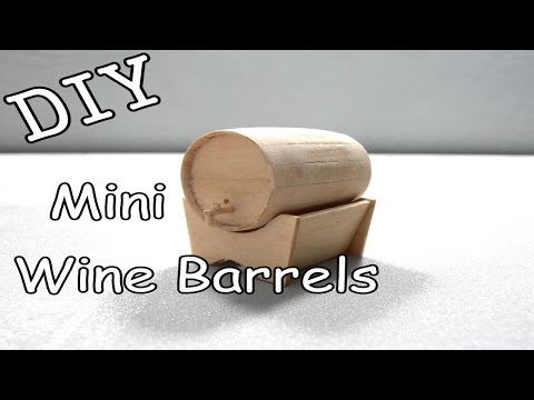 DIY Mini Wine Barrels #13 (Popsicle Stick)