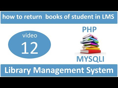 how to return  books of student in LMS