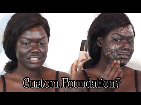 Custom Foundation From An App | MatchCo|| Dark Skin || NYMA TANG