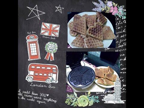 DIY cookies using hotcake/pancake mix & waffle iron