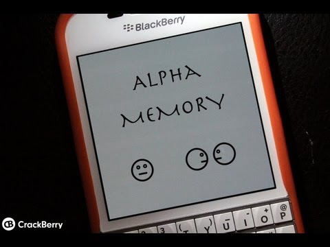 Alpha Memory for BlackBerry 10 and PlayBook