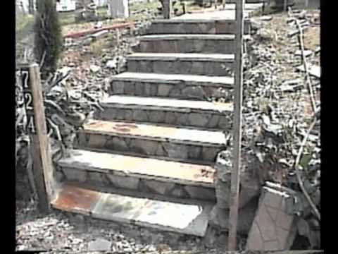 Constructing 2 Stone Sidewalks & Steps - March, 2007