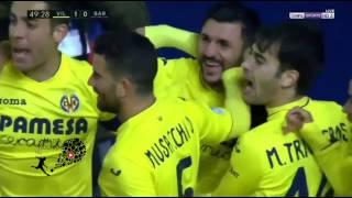 ملخص مباراة برشلونة وفياريال 1_1 الدورى الاسبانى HD