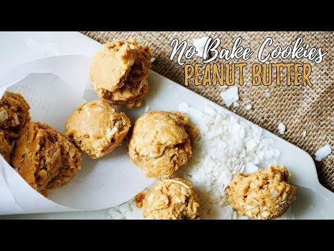 Low Carb Peanut Butter Cookies - No Bake!