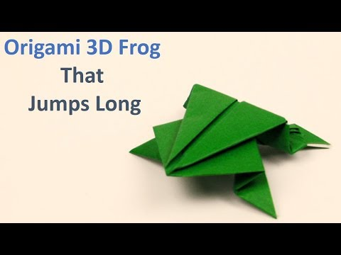 Japanese Origami Frog Jumping Tutorial - Easy Steps