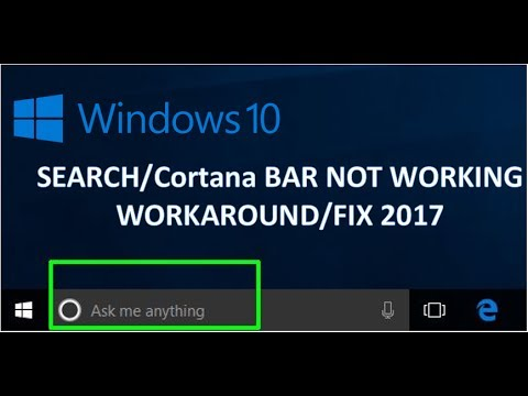 Cannot type in Windows 10 Search/Cortana bar WORKAROUND