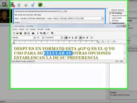 COMO CONVERTIR UN VIDEO A 3GP, MP4, 3GPP (PARA TU CELULAR) ABC 3GP