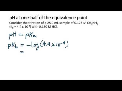 Calculate the pH at one-half the equivalence point