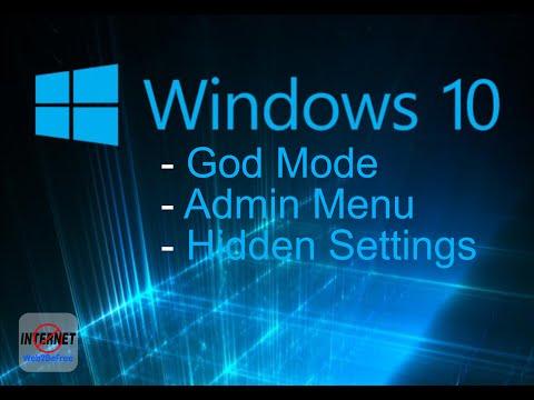 Windows God Mode - Windows 10 Secret Settings - Take control of your Windows [XP][Vista][7][8][10]