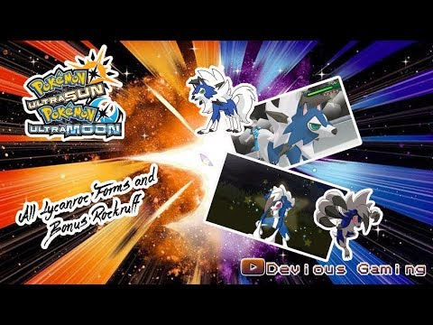 Pokemon Ultra Sun and Moon Live Shiny Lycanroc forms Midnight, Dusk and Dawn!!! plus bonus Rockruff