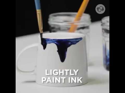 Alcohol Ink Mugs Designs.