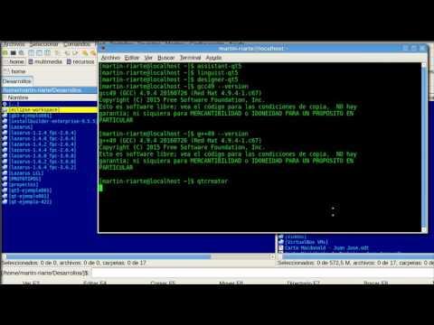 Qt5 5.6.2 + Qt Creator 4.3.0 + GCC 4.9.4 para CentOS 6.7