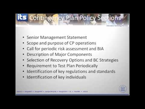 Contingency Planning Overview