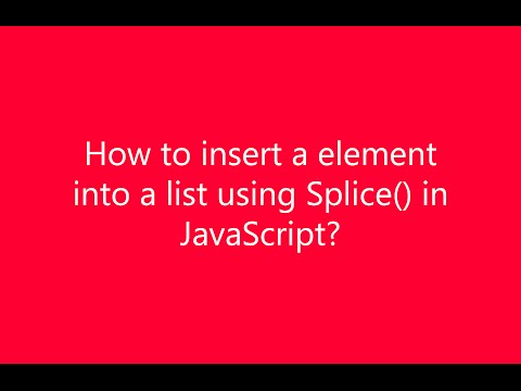 How to insert element into List using Splice function in JavaScript?