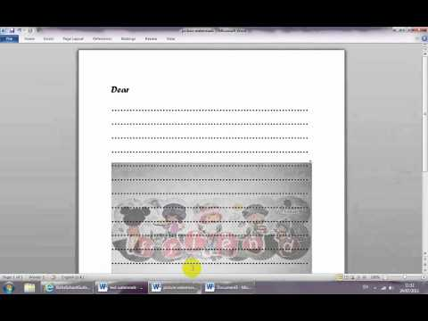 how to make a letter on microsoft word