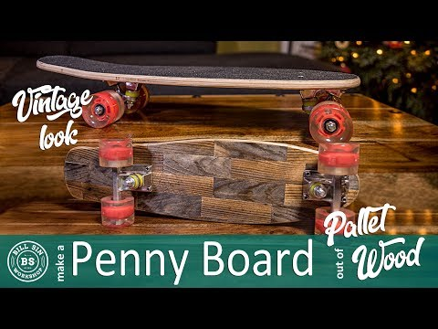 How to make a DIY Penny Board | Build a Pallet wood Penny Board