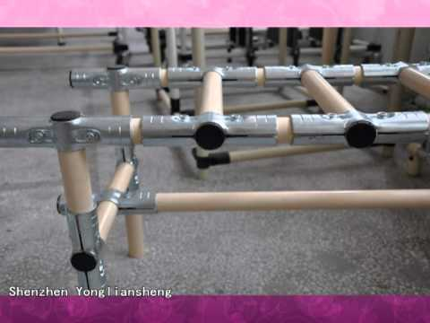 metal joint, coated pipe, OD28mm, roller track, storage pipe rack