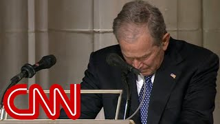 George W. Bush cries delivering eulogy for his father, George H.W. Bush (Full Eulogy)