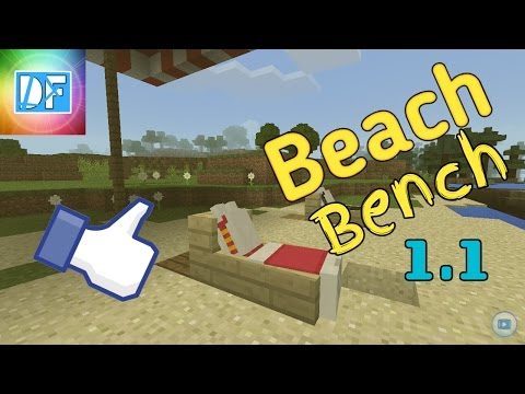 How to make a Working Beach Bench. MCPE vr.(1.1)