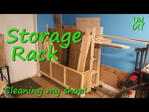How I built my Wood Storage Rack - Build Video