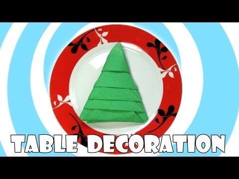 DIY: Napkins Christmas Tree (Table Decoration)