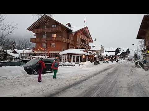 Magic Monk travels to Switzerland during Europe Snowstorm 2019 - Kandersteg part 3