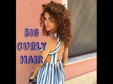 My Natural BIG Curly Hair Tutorial | Using A Diffuser