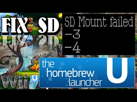 WII U SD mount Failed -3 -4 Errors Homebrew launcher Fix Problems with SD Cards How To Format