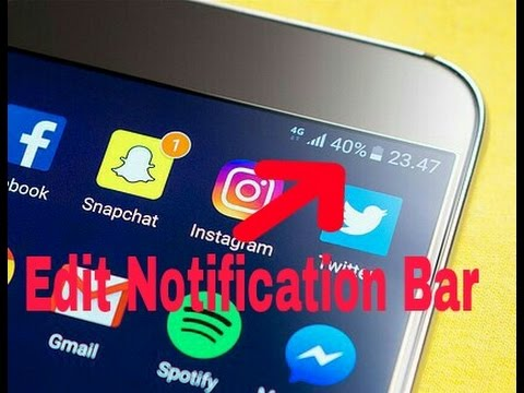 How to change Notification Bar in Android & IOS