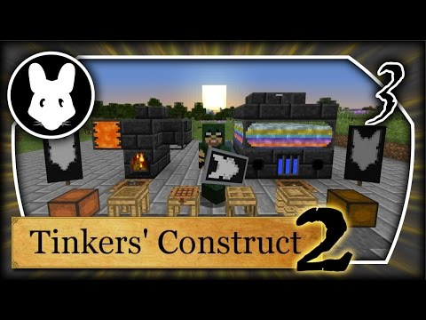 Tinkers' Construct 2: Getting Started Part 3 Minecraft 1.10+ Bit-by-Bit Tinker Tanks & Furnace!