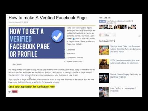 How to make a Verified Facebook Page