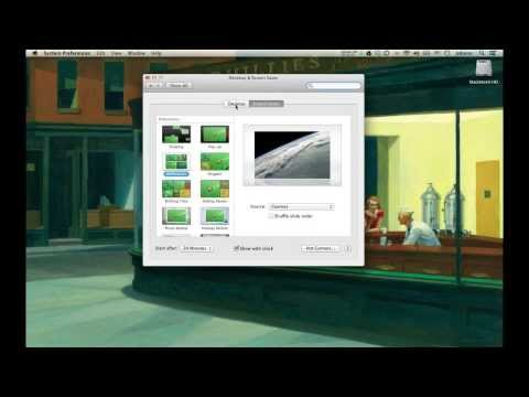 Mac OS X 10.8 Desktop & Screen Saver Setting (廣東話)